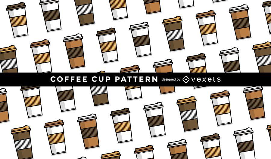 Patrón de taza de café sin costura - Descargar vector