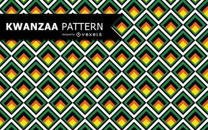 Patrón geométrico colorido de Kwanzaa