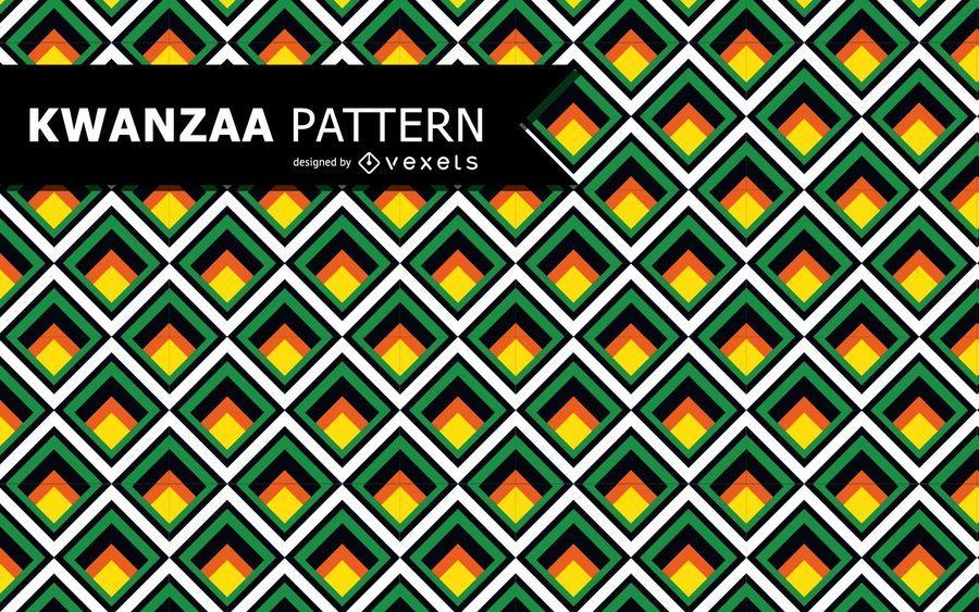 Buntes geometrisches Kwanzaa-Muster