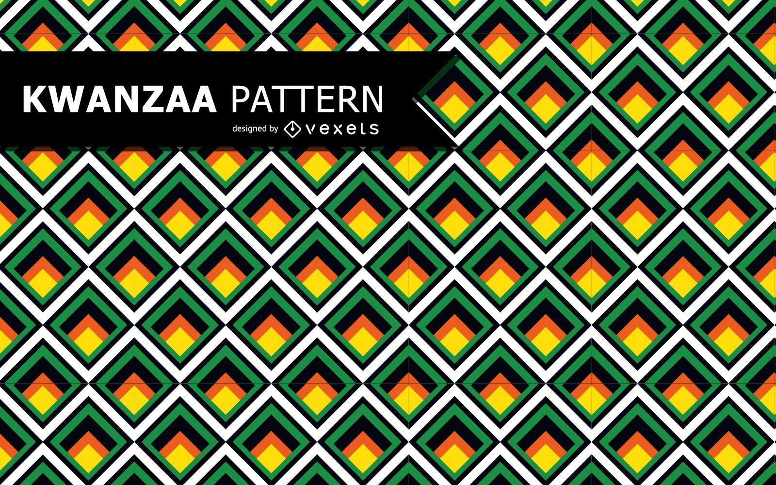 Patrón de Kwanzaa geométrico colorido