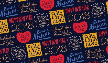 Buntes nahtloses Muster des neuen Jahres