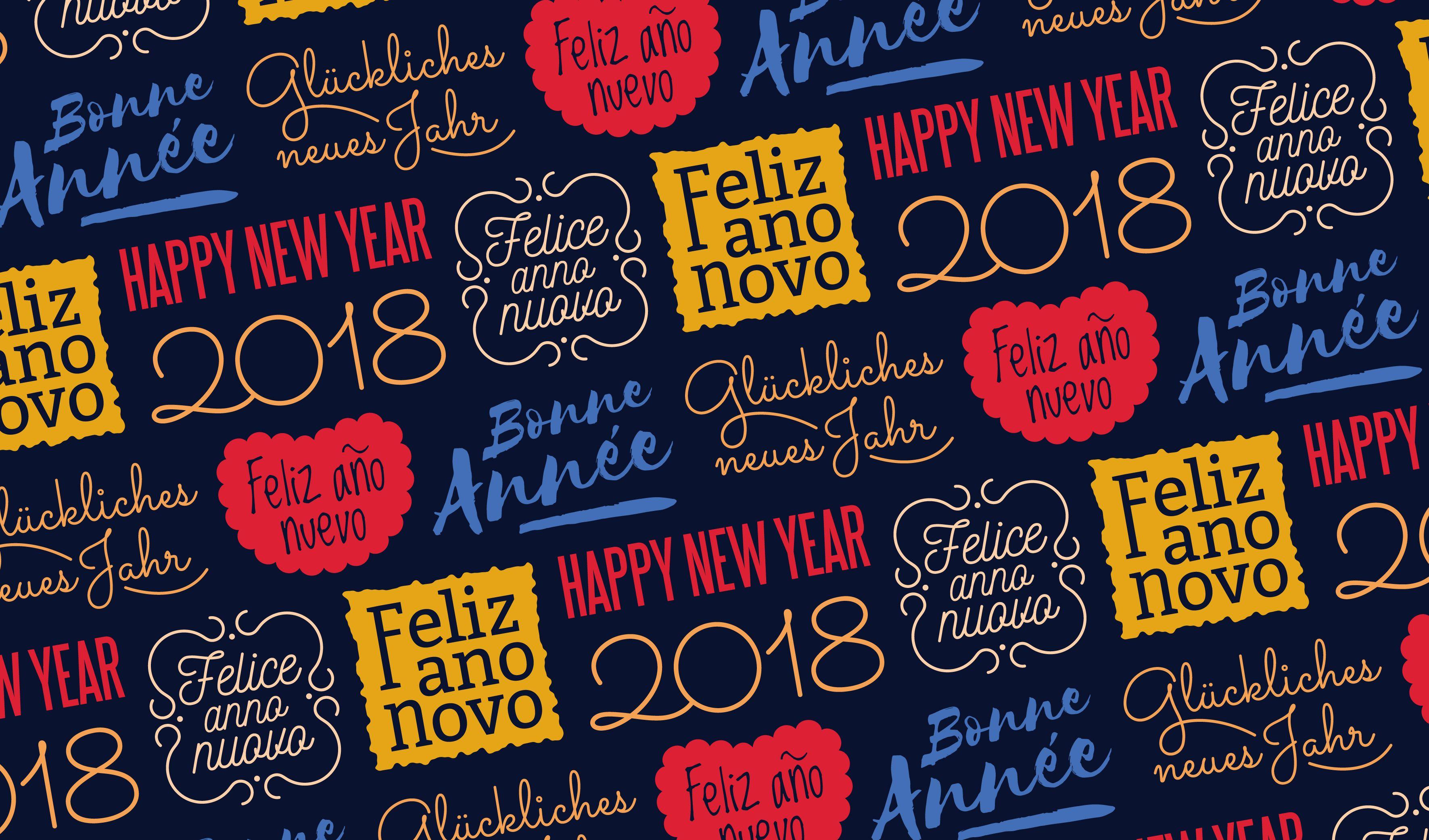Patrón sin costuras colorido año nuevo
