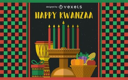 Festive Kwanzaa greeting card