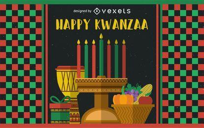 Festliche Kwanzaa-Grußkarte