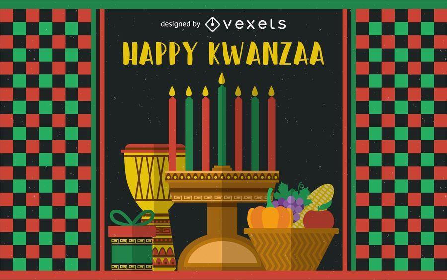 Festive Kwanzaa greeting card