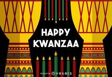 Colorful Kwanzaa greeting card