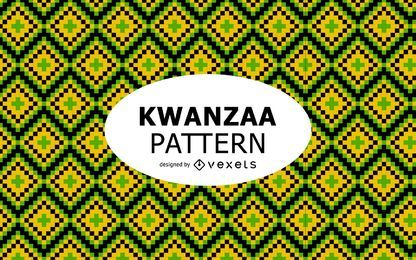 Diseño de patrón Tribal Kwanzaa