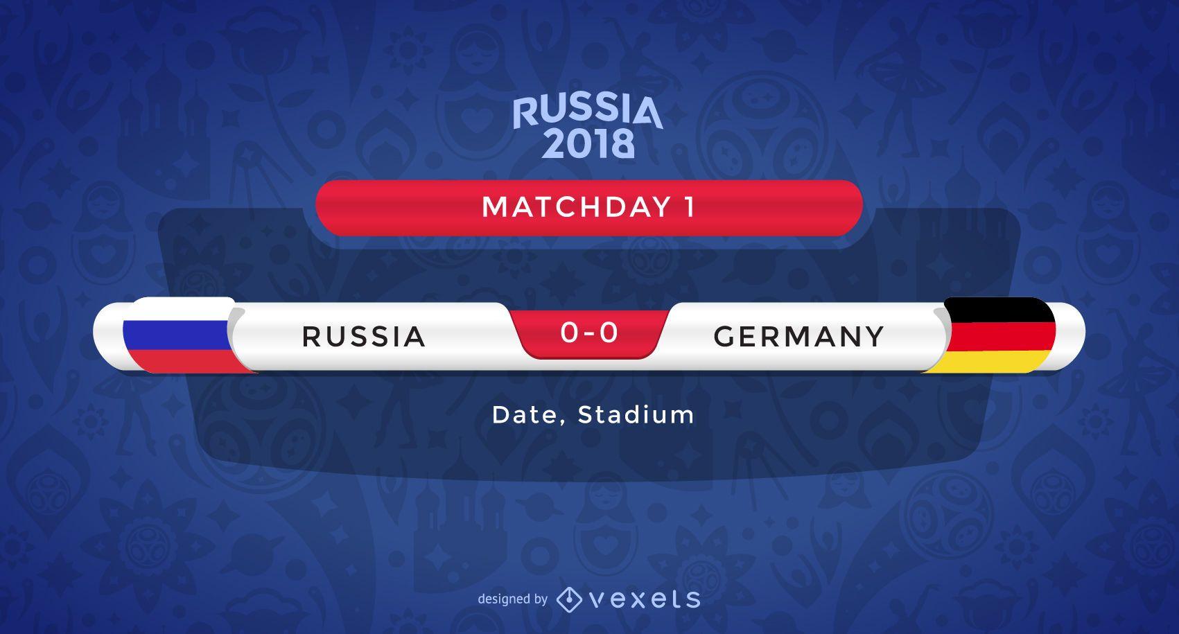 Creador gráfico de partidos de Rusia 2018
