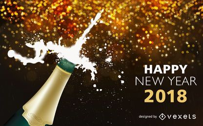 Champagne popping 2018 Ano Novo