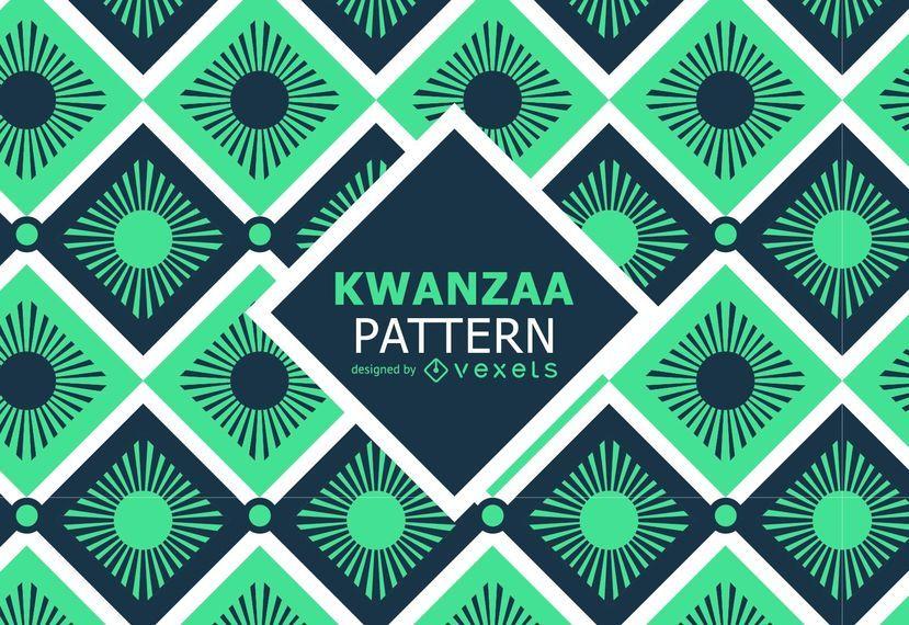 Retro tribal Kwanzaa pattern