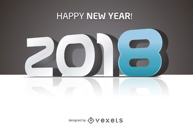 2018 feliz año nuevo gran cartel