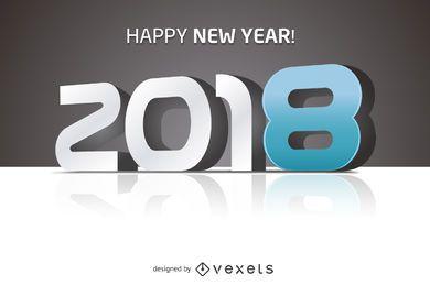 2018 Feliz ano novo sinal grande
