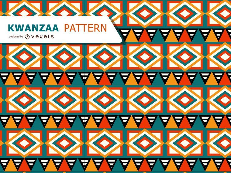 Tribal pattern for Kwanzaa