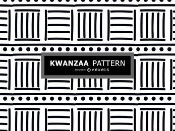 Black and white Kwanzaa pattern