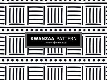 Padrão de kwanzaa preto e branco