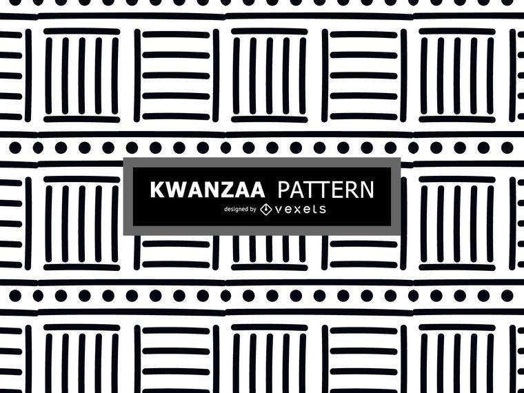 Black and white Kwanzaa pattern