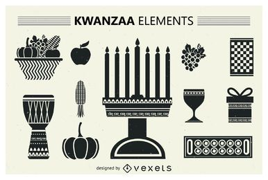 Set of Kwanzaa silhouettes