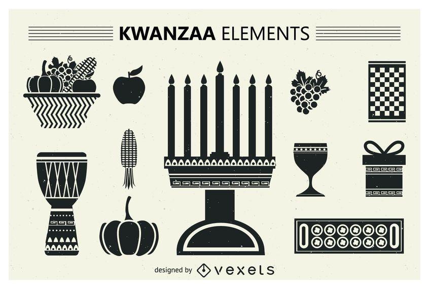 Satz von Kwanzaa-Silhouetten