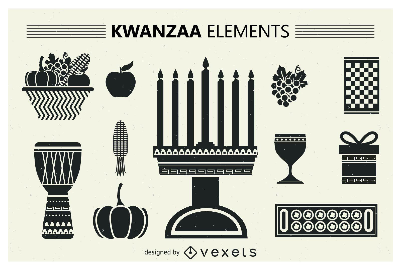 Set of Kwanzaa silhouettes