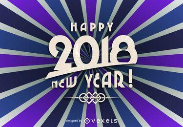 Brillante cartel de año nuevo 2018