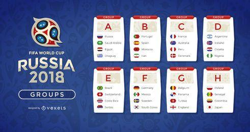 Rusia 2018 grupos del mundial