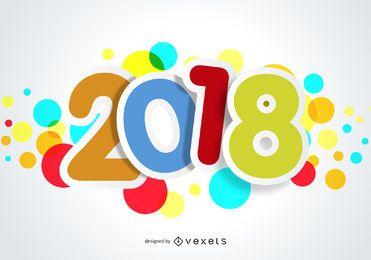 Grande cartaz colorido de 2018
