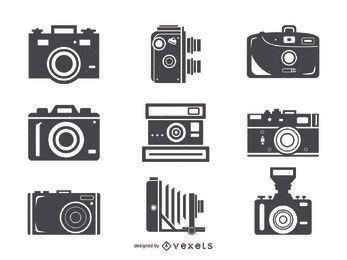 Coleção de ícones de câmeras grandes