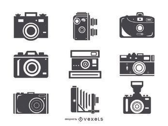 Colección de iconos de cámara grande