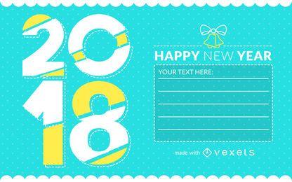 Criador de cartão de saudação de ano novo de 2018