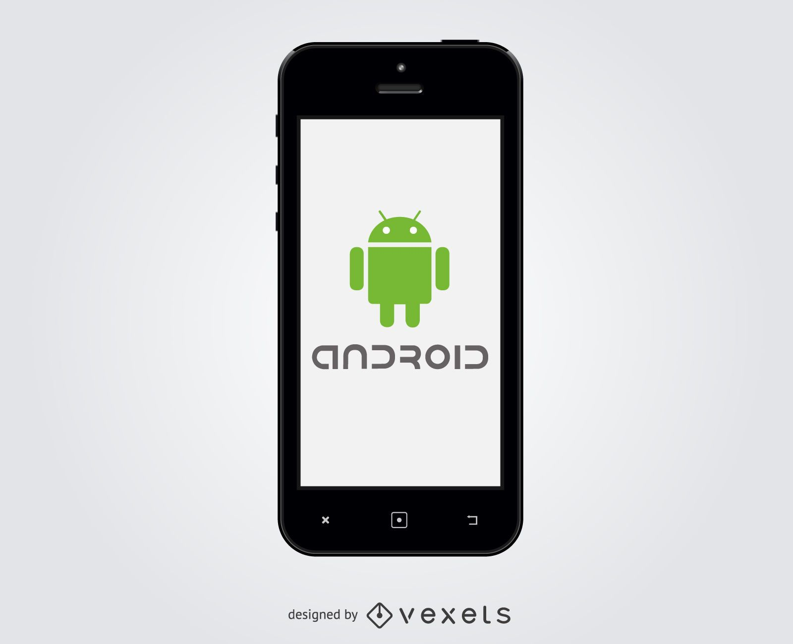 Logotipo de Android dentro del teléfono inteligente