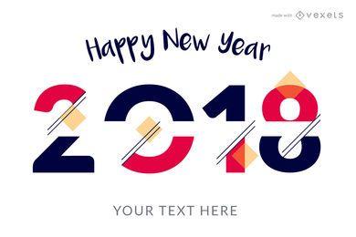Produtor de cartaz de Ano Novo de 2018