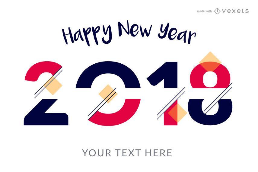 Fabricante de carteles de año nuevo 2018