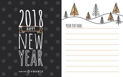 Criador de cartões de ano novo de 2018
