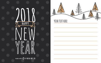 Niedlicher Kartenhersteller für das neue Jahr 2018