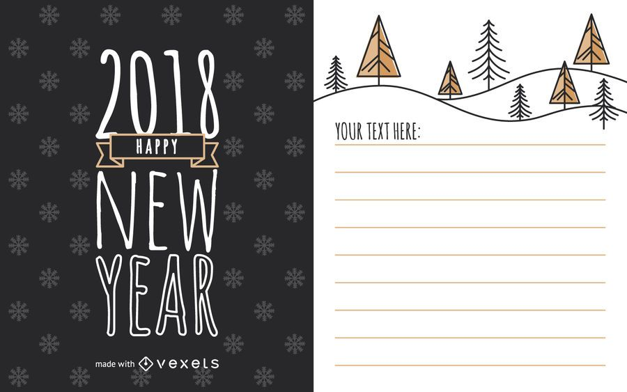 Cute 2018 New Year card maker