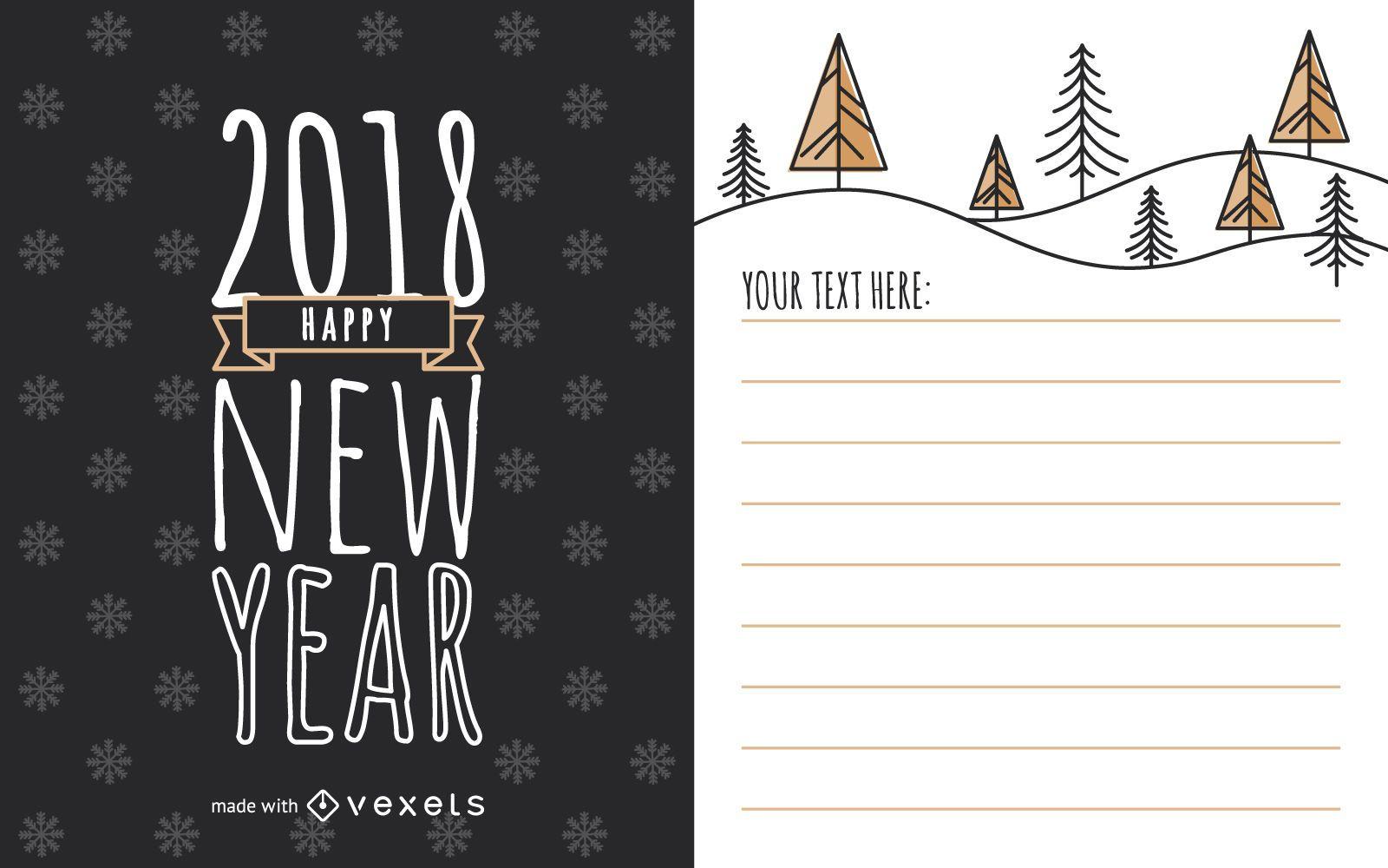 Cute 2018 New Year card maker