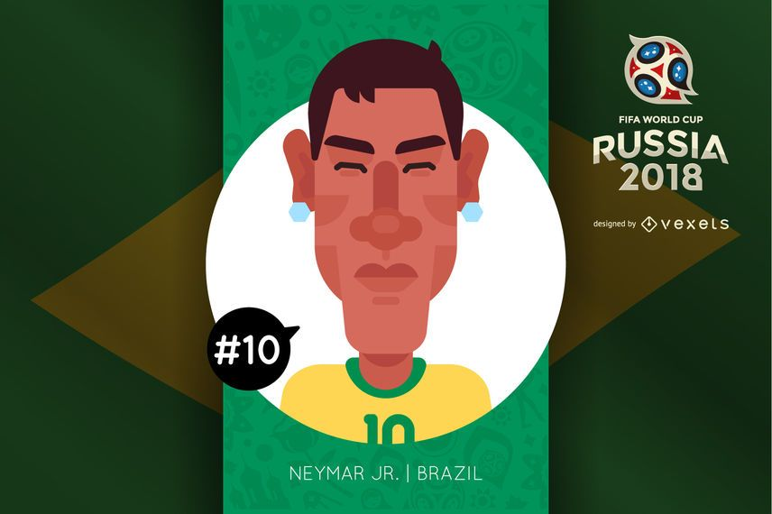 Neymar Russia 2018 cartoon character