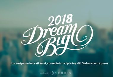 2018 Neues Jahr wünscht Schöpfer