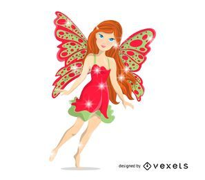 Isolated fairy illustration
