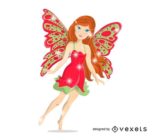 Isolated fairy illustration