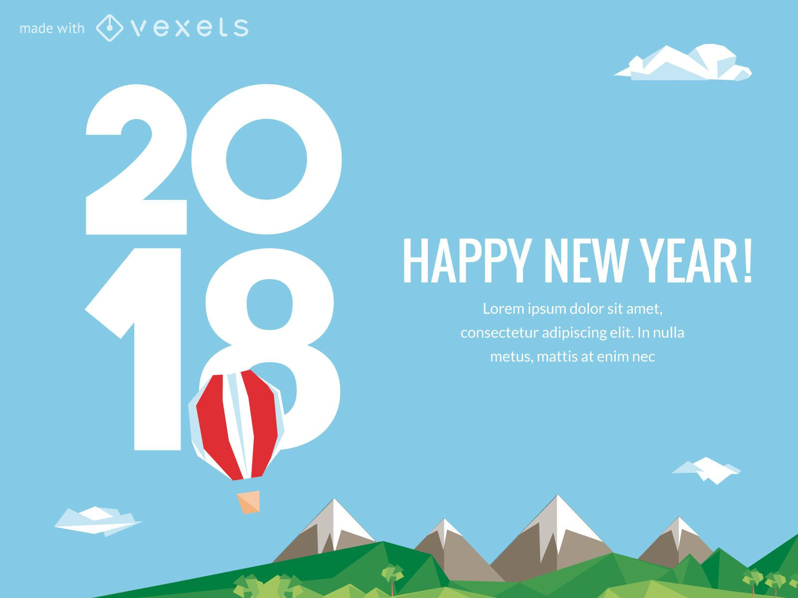 2018 New Year poster maker with options