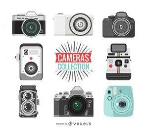 Coleção de ilustrações de câmera vintage