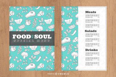 Menü Restaurant Designvorlage