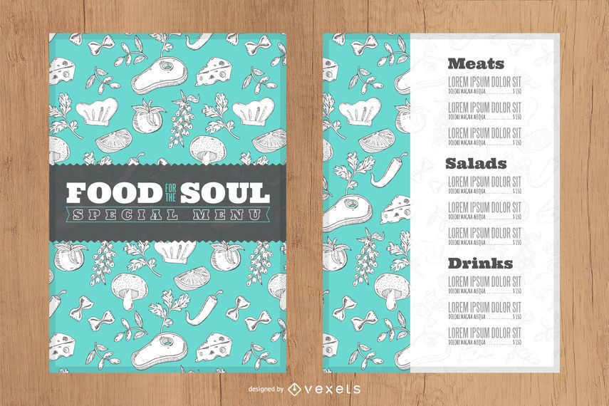 Menu restaurant design template