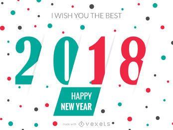 2018 Año nuevo fabricante de tarjetas de felicitación