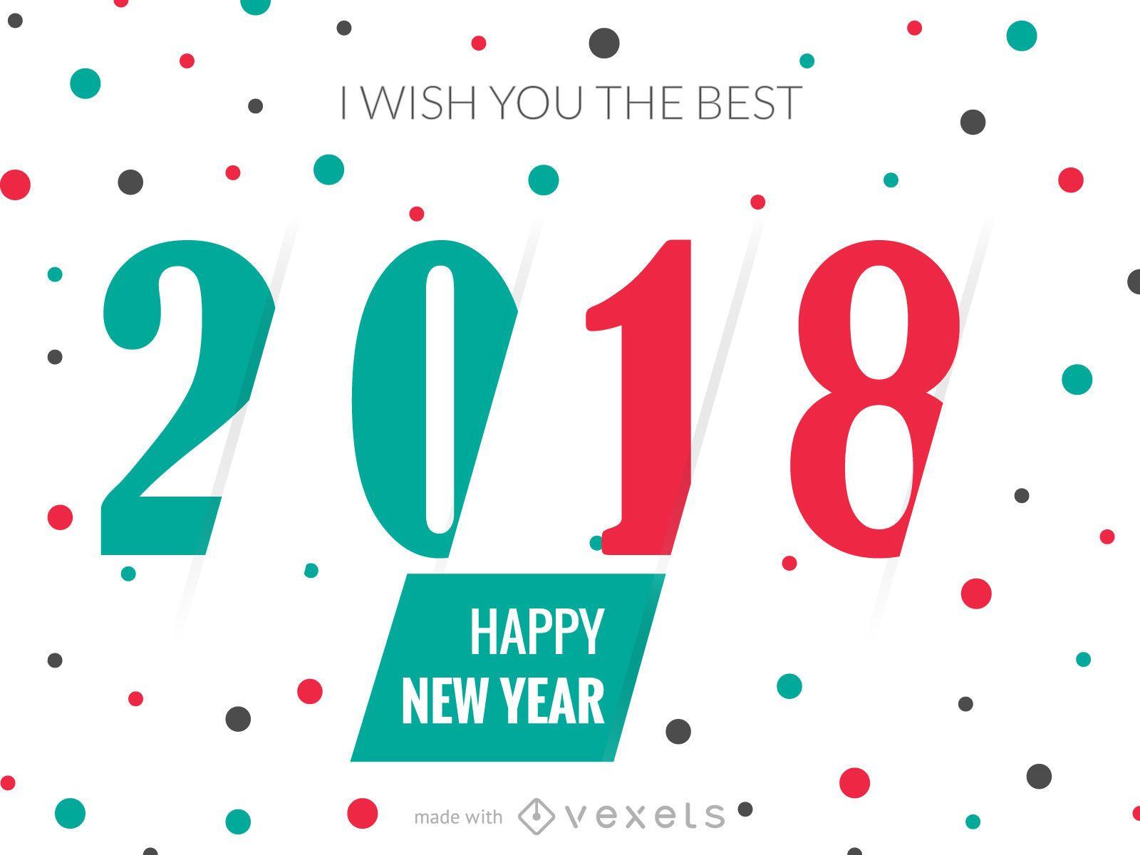 2018 New Year Greeting Card Maker Editable Design