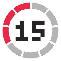 Icono de contador de 15 minutos
