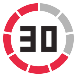 Icono de contador de 30 minutos