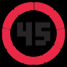 Icono de contador de 45 minutos