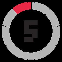 Icono de contador de 5 minutos